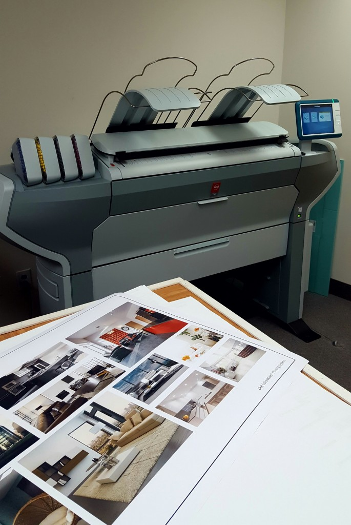 The Oce ColorWave 500 Dual Output Wide Format Printer Is
